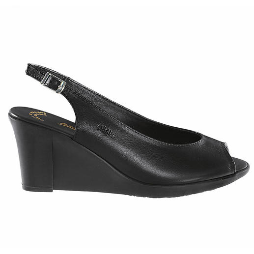 Arcus Latex Wedge Sandal At last a modern wedge heel that is really comfortable. Shock-absorbing latex makes them so incredibly flexible.