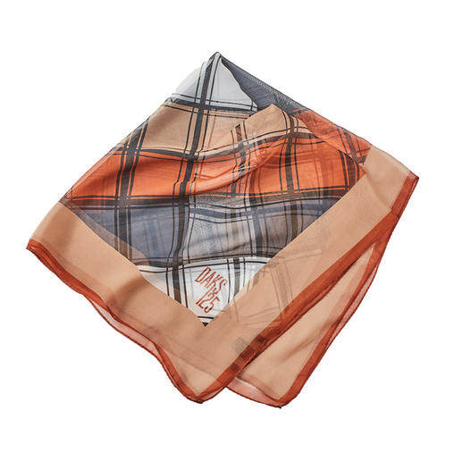 DAKS Neckerchief Trend: Neckerchiefs and checks. Pure silk & modernised house check by DAKS, London.