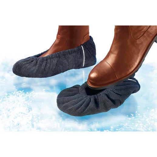 Non-Slip Shoe Covers, 2 pair - No tread has these non-skid properties.