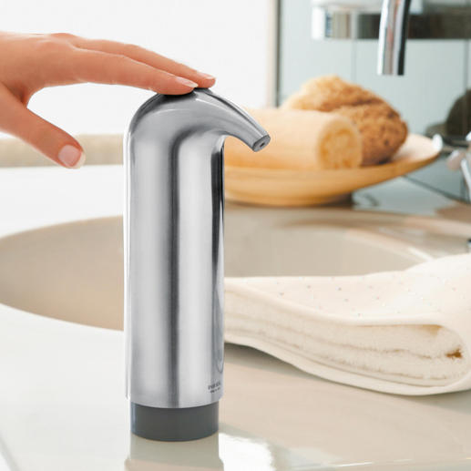 Designer Soap Dispenser Nicer, cleaner, and more sanitary: The designer soap dispenser without corners and edges.