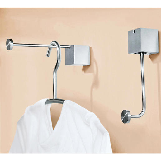 "Design Clothes Hook ""pinup"" or ""pinup duo"" - Elegant coat-hook. Or spacious clothes rail. Switched in no time. Now available as a double hook."