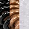 Mix, Black/Brown/Transparent (2 pieces in each colour)